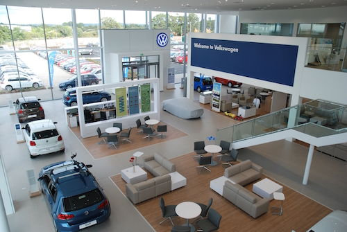 Inchcape Volkswagen showroom